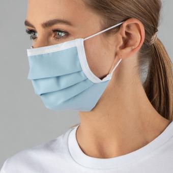 Wiederverwendbare Maske, hellblau, ab 1 Stück