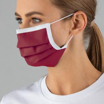 Wiederverwendbare Maske, bordeaux, ab 1 Stück