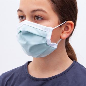 Wiederverwendbare Kindermaske, softgrün, ab 1 Stück