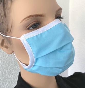 Wiederverwendbare Maske, aqua, ab 1 Stück
