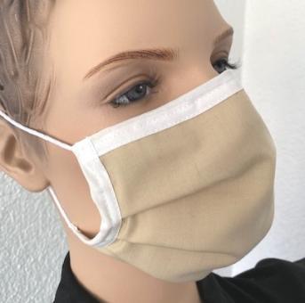 Wiederverwendbare Maske, beige, ab 1 Stück