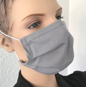 Wiederverwendbare Maske, grau, ab 1 Stück