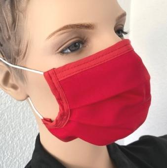 Wiederverwendbare Maske, rot, ab 1 Stück