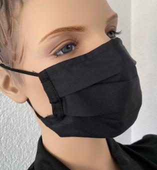 Wiederverwendbare Maske, schwarz, ab 1 Stück
