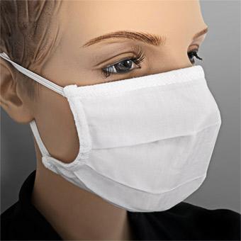 Wiederverwendbare Maske, weiß, ab 1 Stück